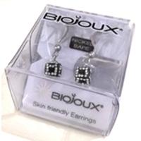 Biojoux Black White Crystal Cube Hook Style BLT931